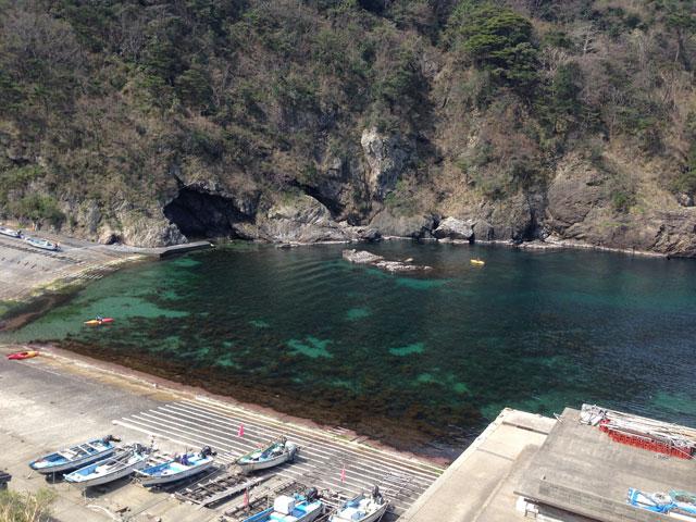 小三尾の漁港